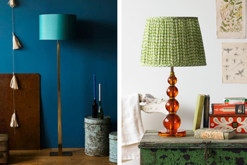 Images and shopping pooky team up with a homewings designer to help choose the perfect lampshade