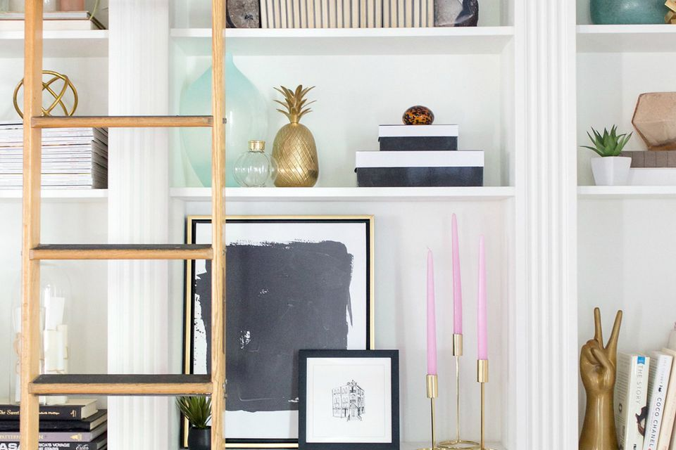 style a bookcase, how to decorate a bookcase, expert tips, interior design