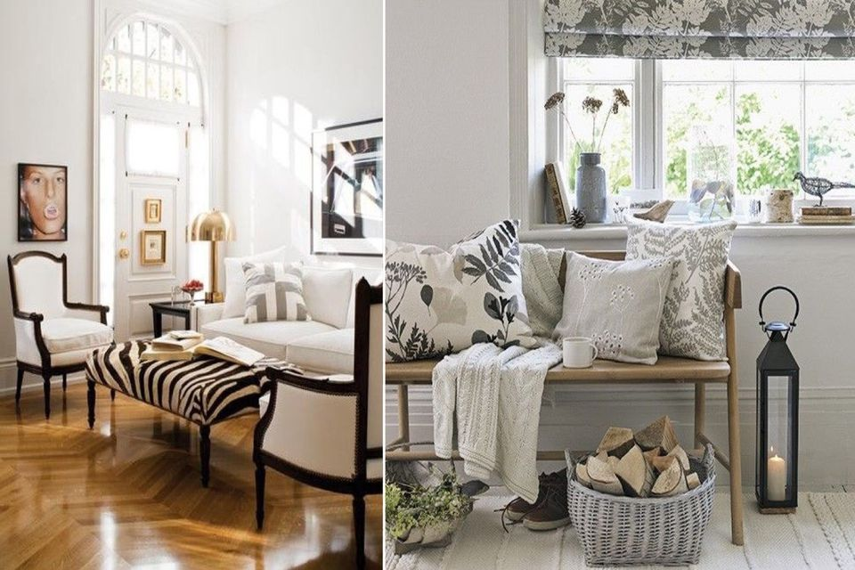 neutral tones, neutral tropical print, printed cushions, animal print, outdoor interior inside, affordable design