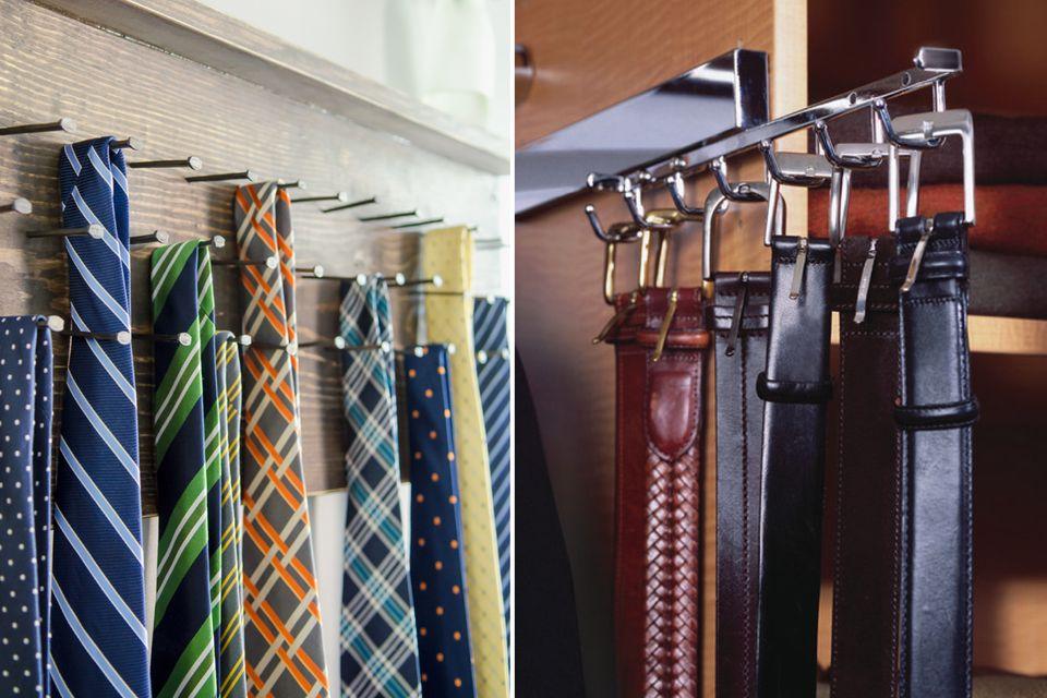 DIY tie rack closet organiser menswear