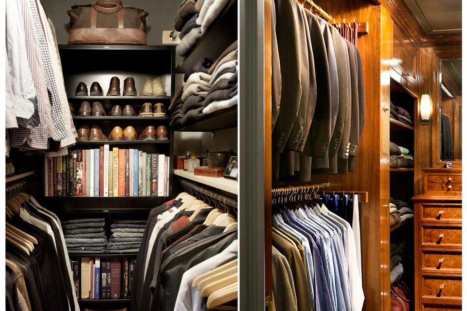 closet menswear men organise DIY