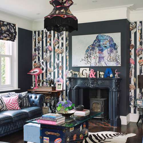 living-room-eclectic-interior-design-dark-blue-glamorous