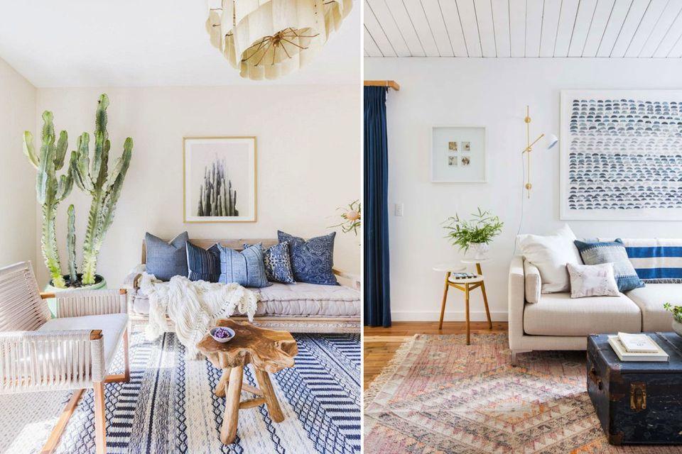 Living Room Ideas, Bohemian Living Room, Beach House Interior Design Ideas, Interior  Design