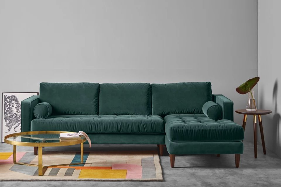 How to buy the perfect sofa, made, green velvet couch