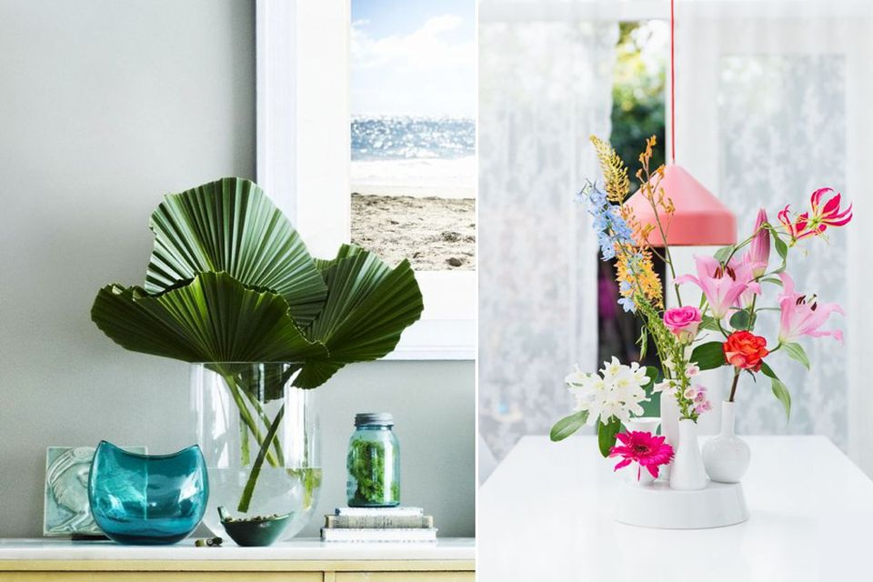 vase, decorate with vase, flowers, styling with flowers, how to, interior design