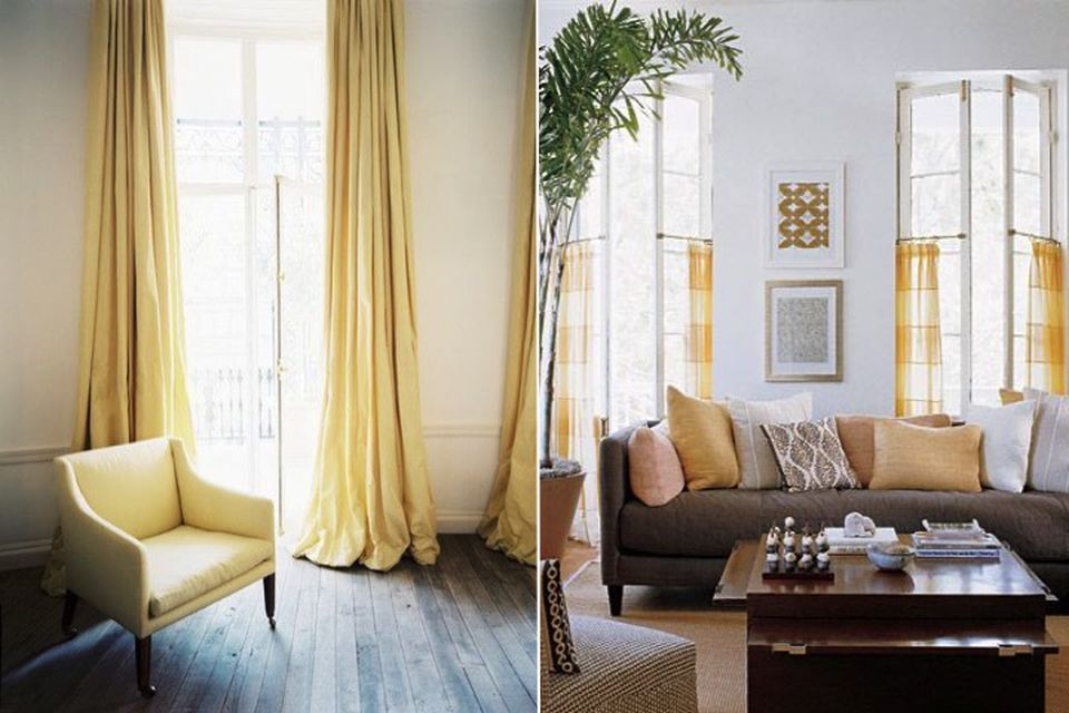 Red and yellow, Trend alert, hot trend, pastel colours, pastel yellow, lemon yellow, curtains