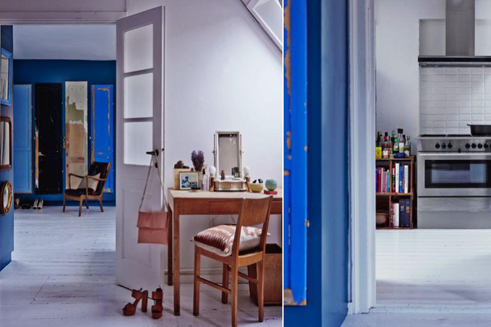 Sarah Sheikh, interior design, online interior design, home tours, cobalt blue, bold details