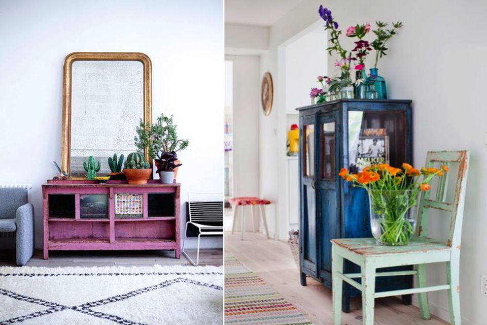 Julian Maison, online interior design, upcycling, painting furniture,