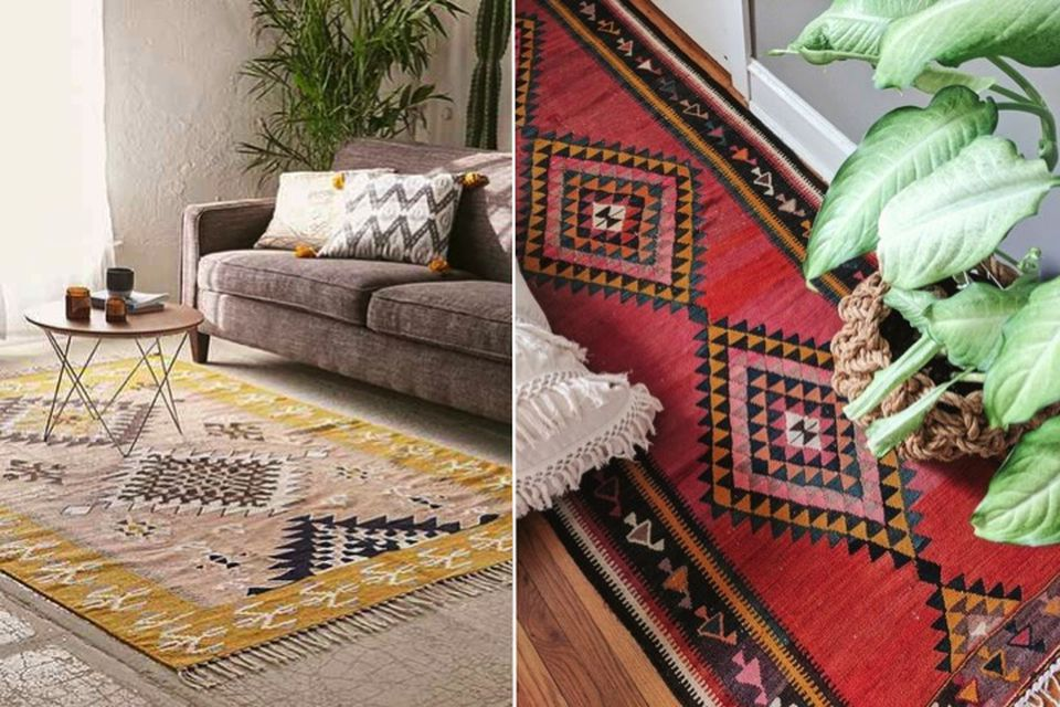 Red and yellow, Trend alert, hot trend, Rugs, red and yellow rugs, moroccan inspired rugs, warm coloured rugs