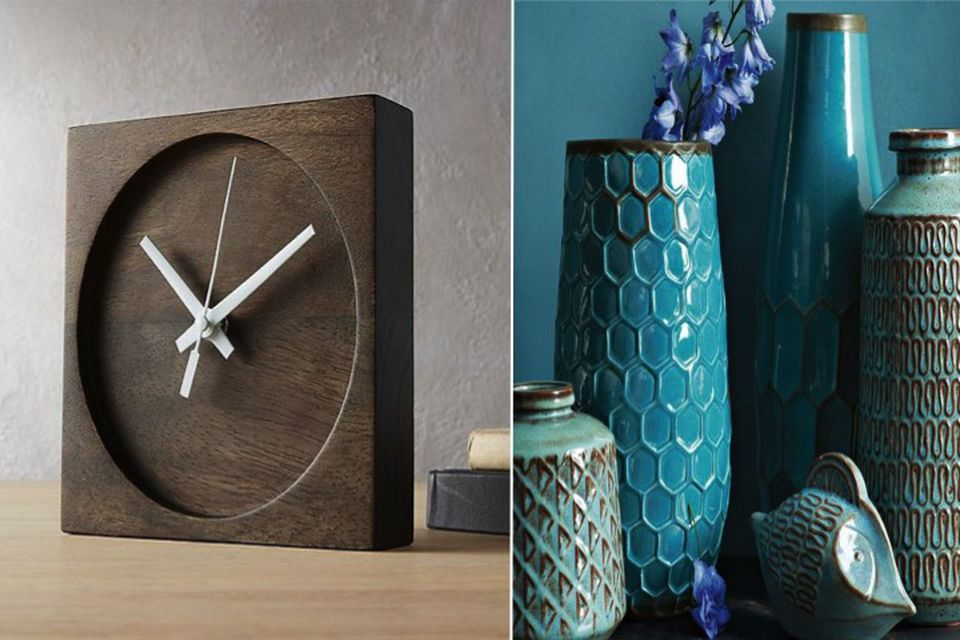 Fall interiors, Summer to fall, candles, wood clock, furnishings