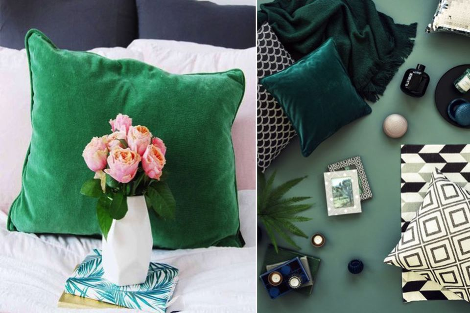 emerald green, designer tips, colour tips, wallpaper, soft furnishings, emerald green soft furnishings