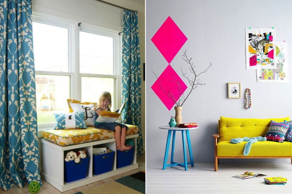 Red and yellow, Trend alert, hot trend, kids room, childs room, bright yellow interiors, yellow upholstery