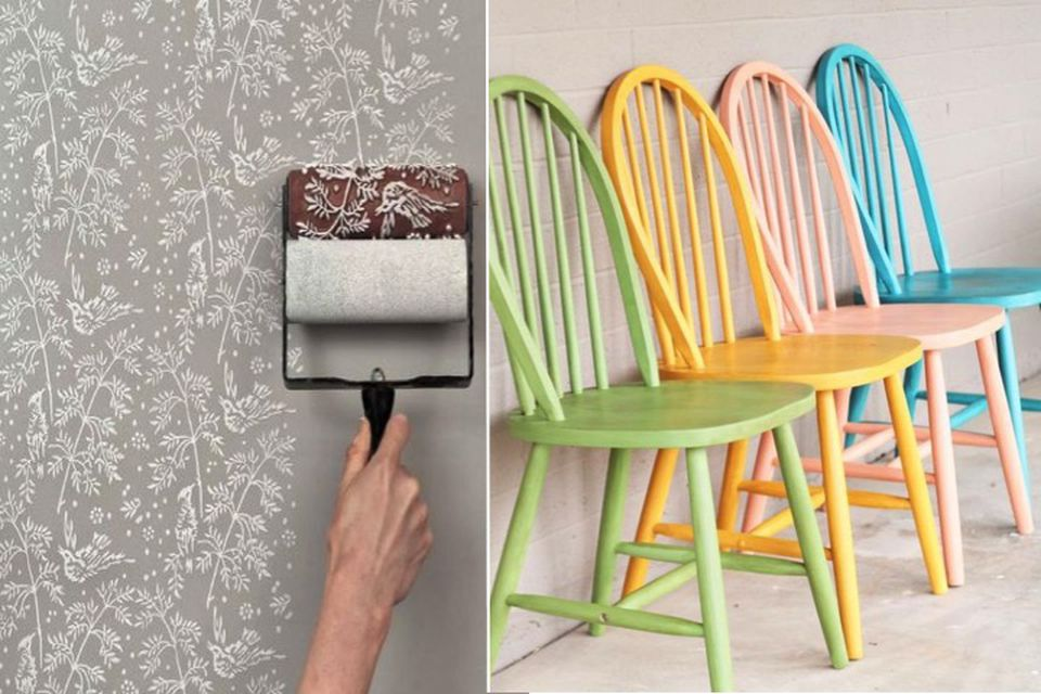 Julian Maison online interior design upcycling painting stencils wall painting & Making the old new in 5 steps: Upcycle your furniture like an ...