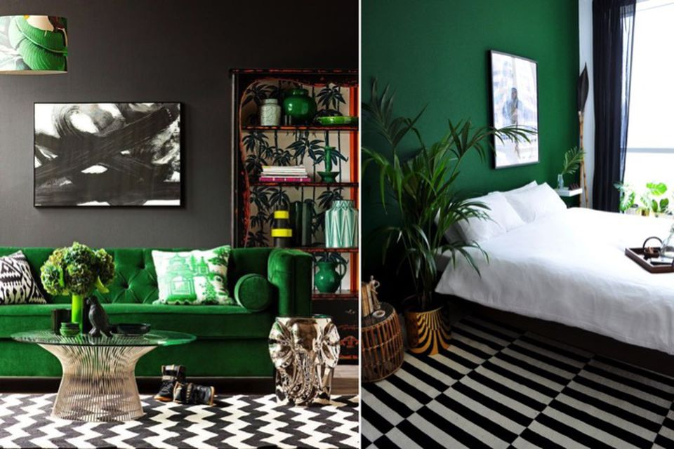 Emerald Green, Designer Tips, Colour Tips, Wallpaper, Emerald Green And  Monochrome,