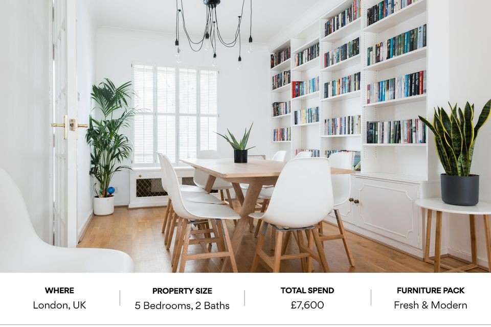 furniture packages, furnished airbnb, furnish my flat, interior design, homewings furniture packs, get more money for airbnb, rental, interior designer london