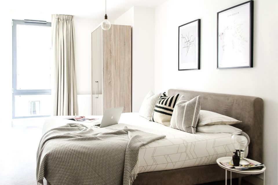 bedroom ideas, bedroom design, homewings, before and after, online interior design, scandinavian, scandi style, scandi interiors, east london, london, how to decorate your flat