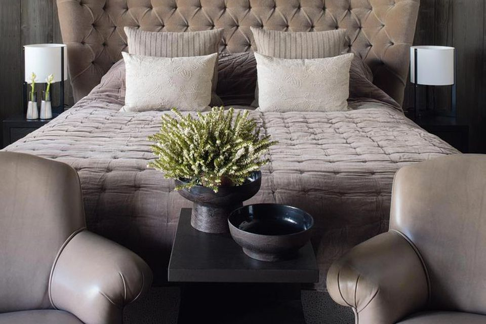 Taupe Kelly Hoppen bedroom